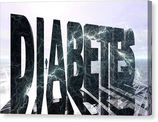 Diabetes Canvas Print - Diabetes by Carol & Mike Werner