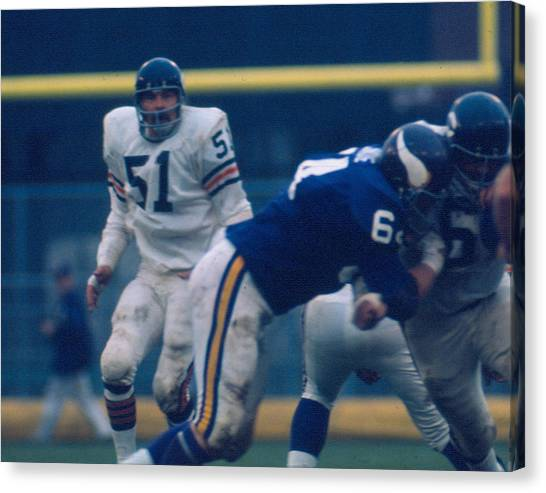 Dick Butkus Canvas Print - Dick Butkus by Retro Images Archive