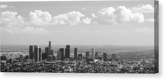 Downtown Of Los Angeles Canvas Print