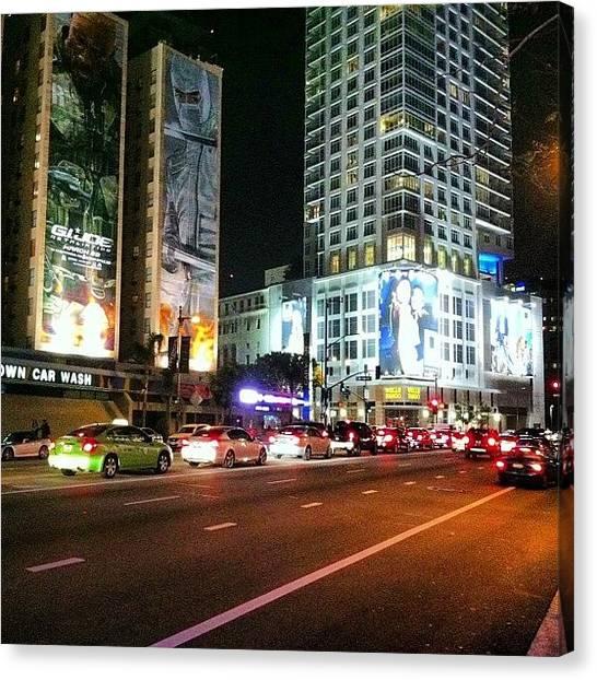 La Clippers Canvas Print - #dtla #downtownla #downtownlosangeles by Blacknewsmagazine Kountz