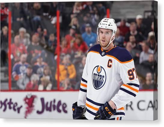 Edmonton Oilers V Ottawa Senators Canvas Print by Jana Chytilova/Freestyle Photo