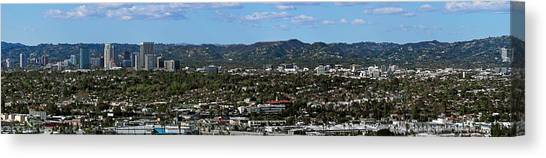 San Gabriel Canvas Print - Elevated View Of Buildings In City by Panoramic Images