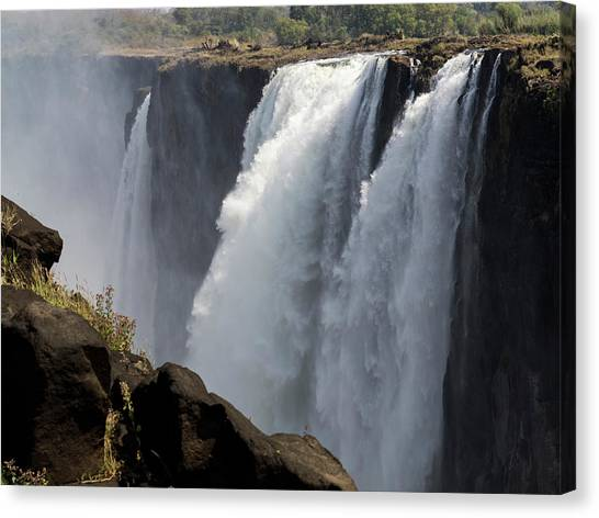 Victoria Falls Canvas Print - Elevated View Of Waterfall, Devils by Panoramic Images