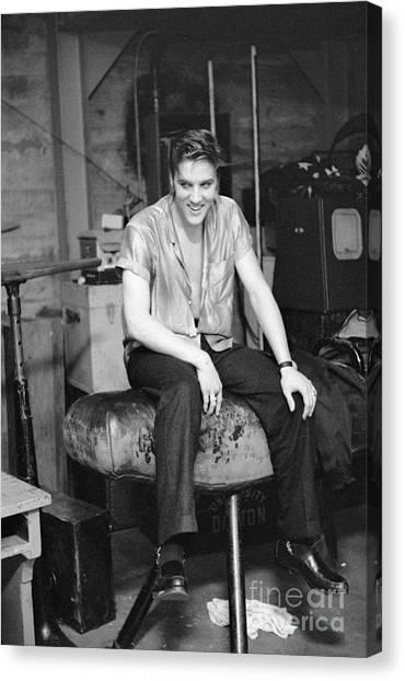 Elvis Canvas Print - Elvis Presley 1956 by The Harrington Collection