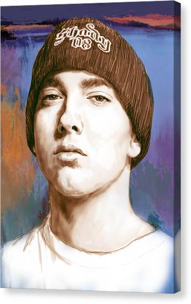 Careers Canvas Print - Eminem - Stylised Drawing Art Poster by Kim Wang