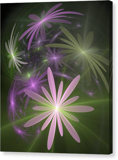 Ethereal Flowers Canvas Print