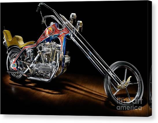 Evel Knievel Harley Davidson Chopper Photograph By Frank: Evel Knievel Canvas Prints