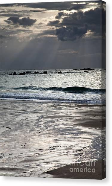 Sandy Beach Canvas Print - Evening At The Sea by Nailia Schwarz