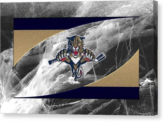Florida Panthers Canvas Print - Florida Panthers by Joe Hamilton