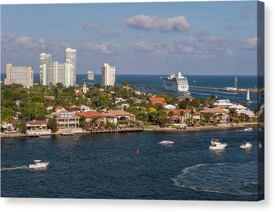 Jet Skis Canvas Print - Fort Lauderdale, Port Everglades by Lisa S. Engelbrecht