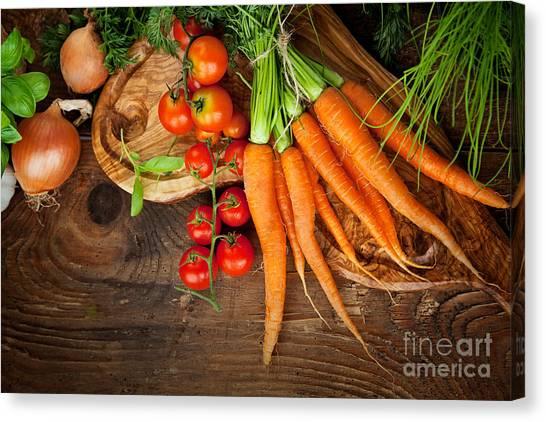 Mythja Canvas Print - Fresh Vegetables by Mythja  Photography