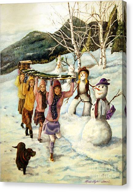 Frosty Frolic Canvas Print