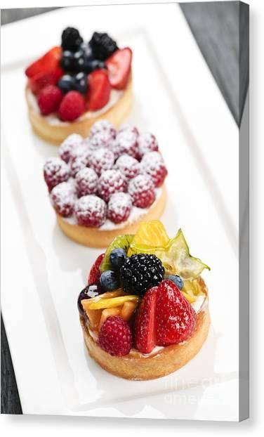 Blackberries Canvas Print - Fruit Tarts by Elena Elisseeva