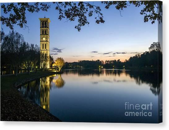 Furman University Bell Tower At Sunset  Greenville Sc Canvas Print