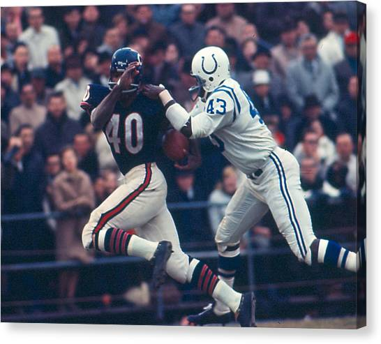 University Of Kansas Canvas Print - Gale Sayers by Retro Images Archive