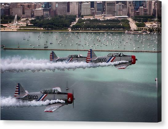 Geico Skytypers Canvas Print