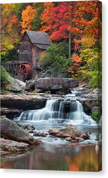 West Virginia Canvas Print - Glade Creek Grist Mill  by Emmanuel Panagiotakis