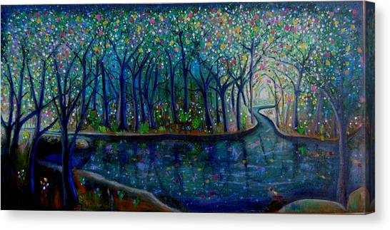 Glistening Forest Lake Canvas Print