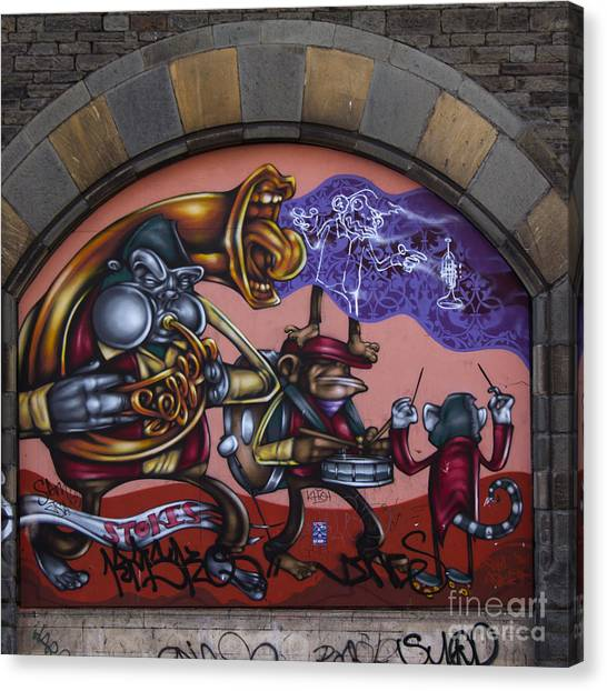 Graffiti House Canvas Print
