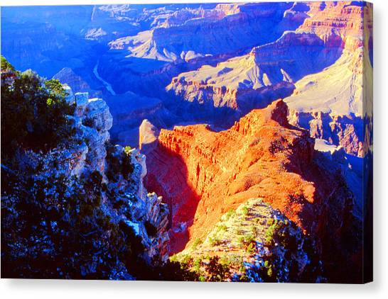Grand Canyon From Hermit's Rest Road Canvas Print