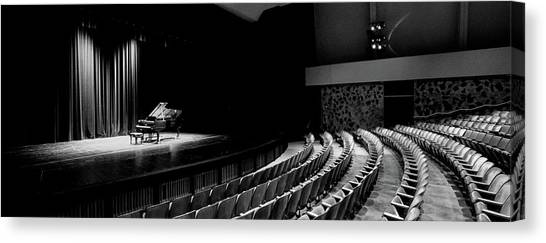 University Of Hawaii Canvas Print - Grand Piano On A Concert Hall Stage by Panoramic Images