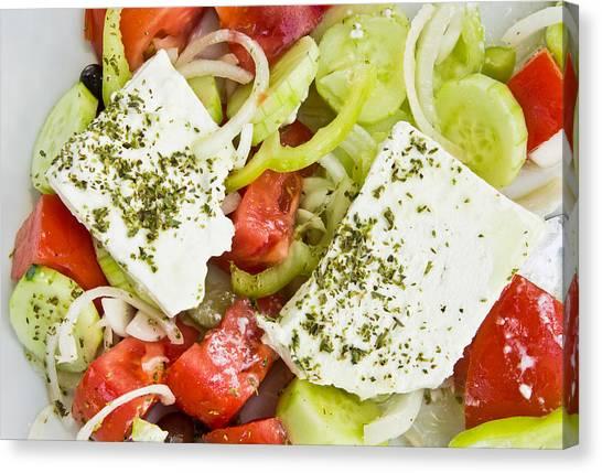 Brunch Canvas Print - Greek Salad by Tom Gowanlock