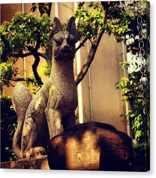 Foxes Canvas Print - Hanei Inari Shrine  繁栄稲荷神社 by My Senx