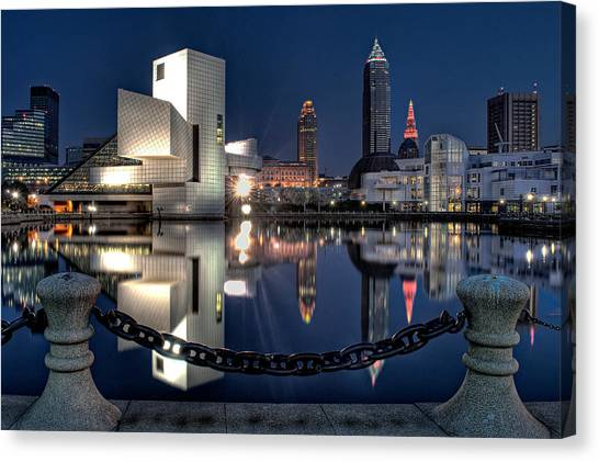 Canvas Print featuring the photograph Harbor Reflections by At Lands End Photography