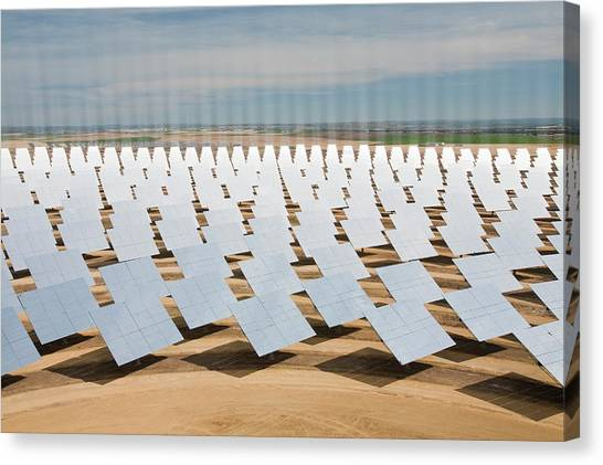 Clean Energy Canvas Print - Heliostats by Ashley Cooper