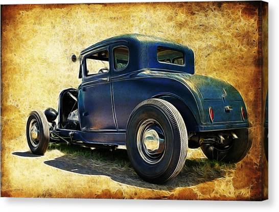 Canvas Print - Hot Rod Ford by Steve McKinzie