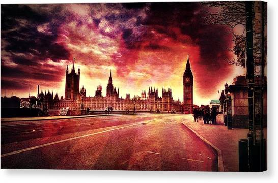 Drake Canvas Print - Houses Of Parliament London by Chris Drake