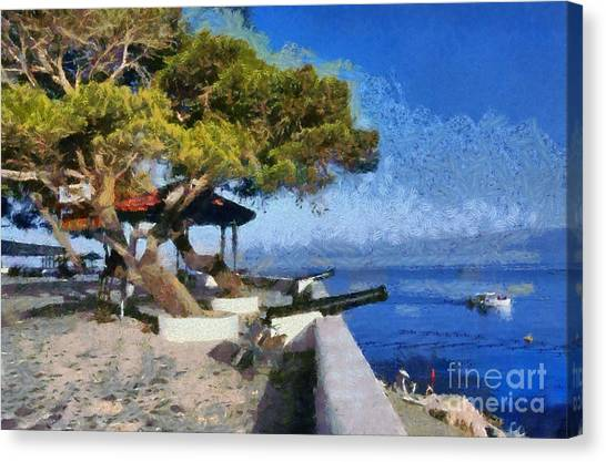 Hydra Island Canvas Print