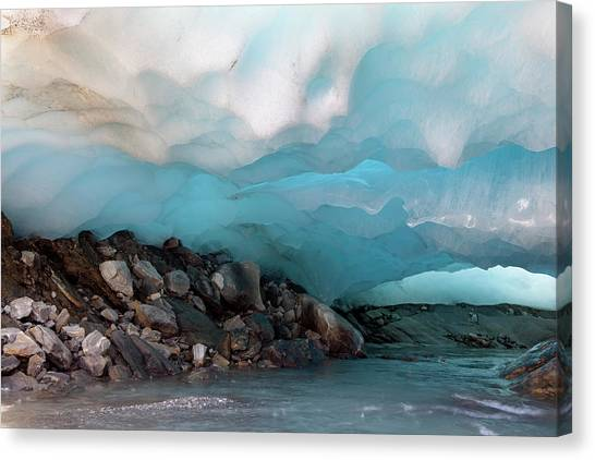 Ice Caves Canvas Print - Ice Cave And Glacier Snout by Martin Zwick