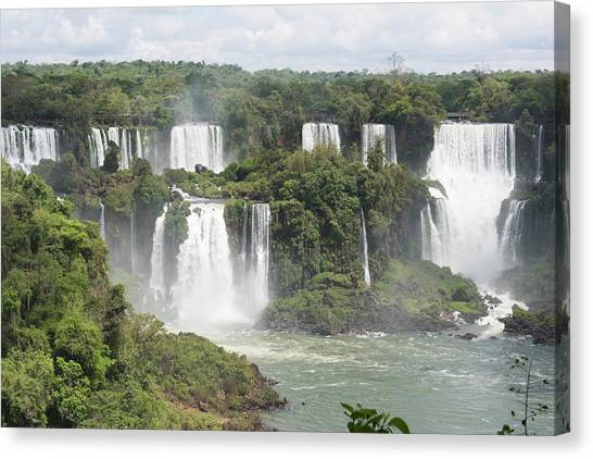 Iguazu Falls Canvas Print - Iguazu Falls by Dr P. Marazzi/science Photo Library