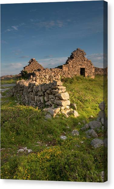 Aran Canvas Print - Inishmore Island by Tom Norring