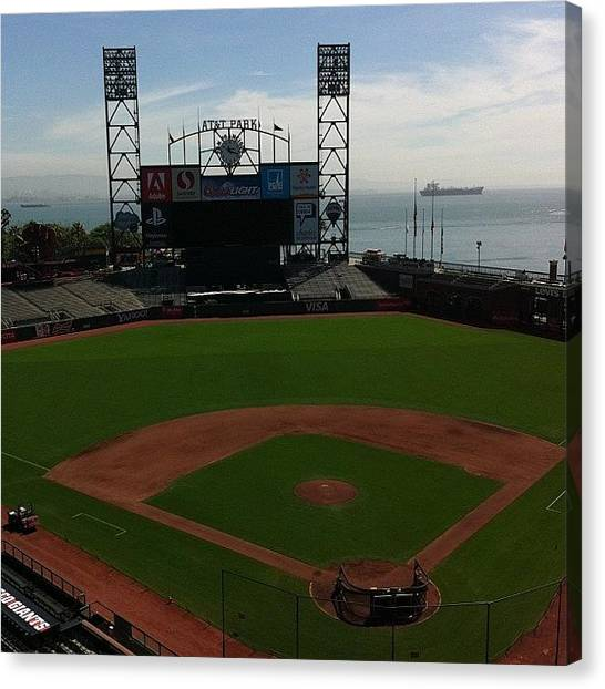 San Francisco Giants Canvas Print - Instagram Photo by Mike Weiner