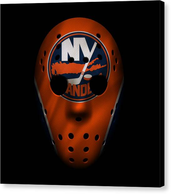 New York Islanders Canvas Print - Islanders Jersey Mask by Joe Hamilton