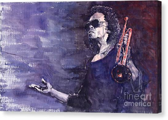 Miles Davis Canvas Print - Jazz Miles Davis by Yuriy Shevchuk