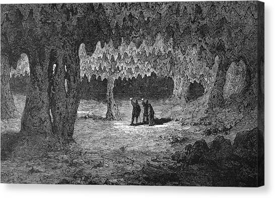 Spelunking Canvas Print - Kentucky Mammoth Cave by Granger