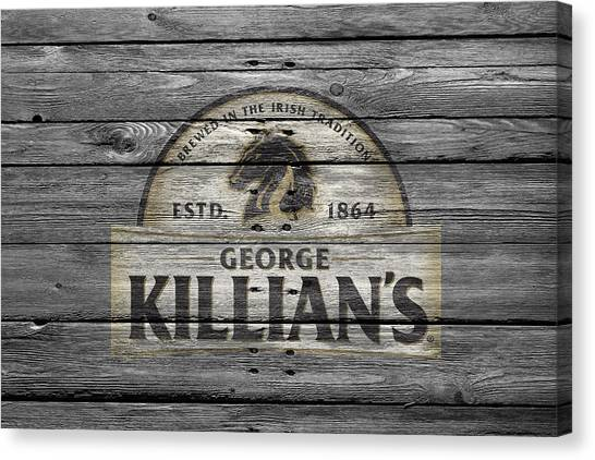 Beer Can Canvas Print - Killians by Joe Hamilton