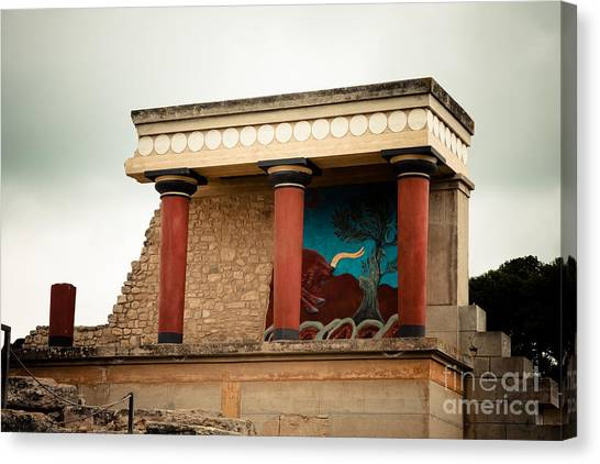Minotaurs Canvas Print - Knossos Archeological Site by Gabriela Insuratelu
