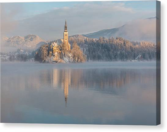 Catholic Canvas Print - Lake Bled by Ales Krivec
