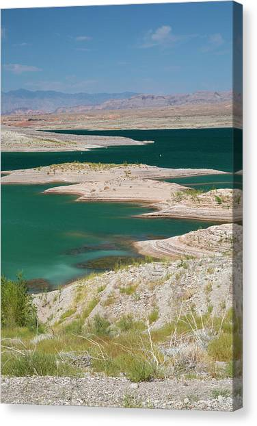 Nra Canvas Print - Lake Mead Drought by Jim West/science Photo Library