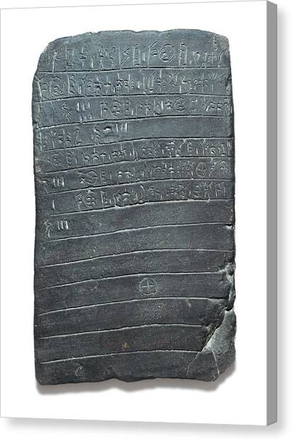 Archaeologists Canvas Print - Linear B Tablet by David Parker