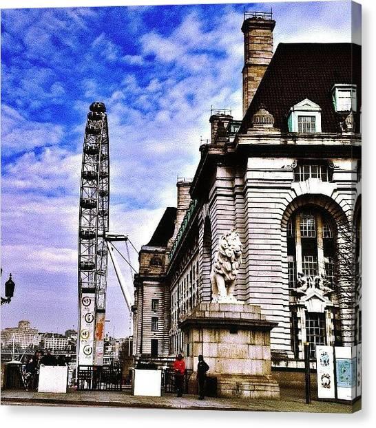 Drake Canvas Print - London Eye!! by Chris Drake