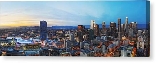 Los Angeles Skyline Canvas Print - Los Angeles Skyline by Kelley King