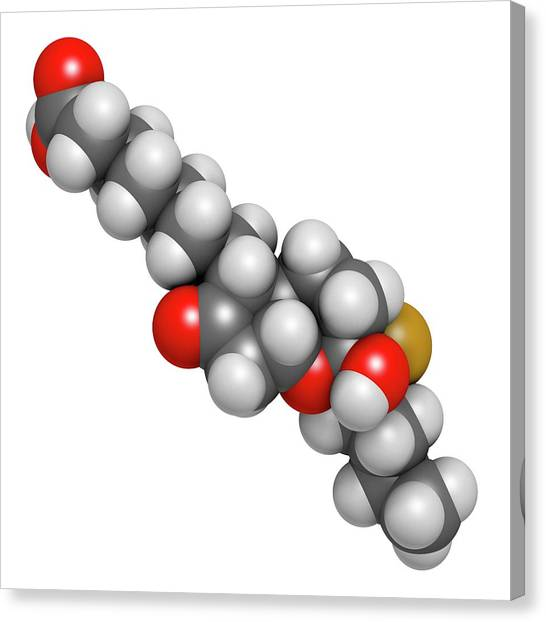 Chronic Canvas Print - Lubiprostone Chronic Constipation Drug by Molekuul