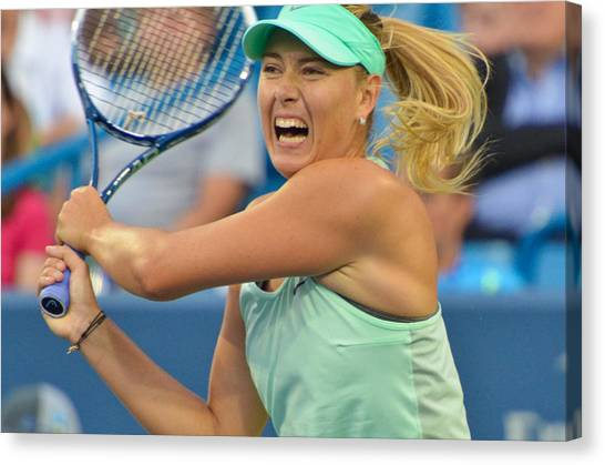 Maria Sharapova Canvas Print - Maria Sharapova by David Long