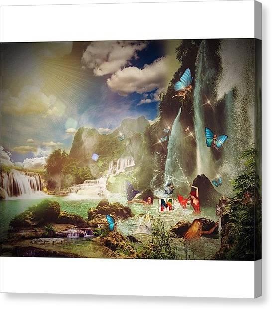 Mermaids Canvas Print - #masterfx #masterfx_only_beta_challenge by Luis Aviles