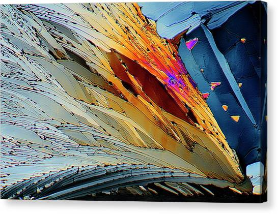 Diabetes Canvas Print - Metformin Drug Crystals by Antonio Romero